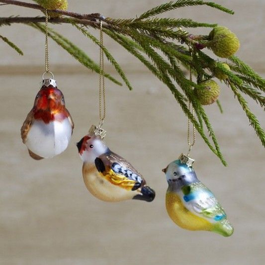 christmas decoration accessories decorative glass birds