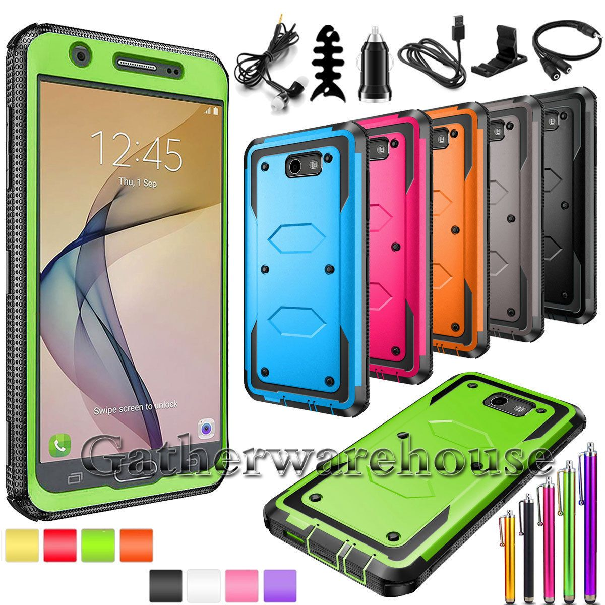 Details about Hybrid Hard Case Cover For Samsung Galaxy J7 V 2017