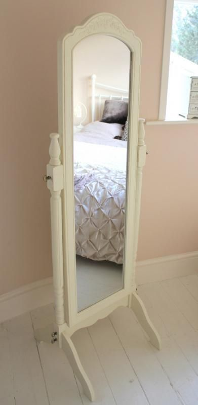 Cream Full Length Cheval Mirror | Home Sweet Home in 2019 | Cheval mirror, Standing mirror, Full ...