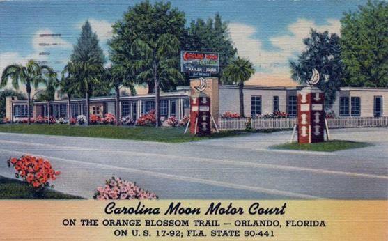 Carolina Moon Motor Court Orlando Florida Vintage Motels And