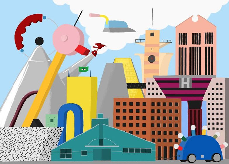 Love This Illustration Of Postmodernism By Dezeen S Daniel Frost Postmodernism Memphis Design Pop Art
