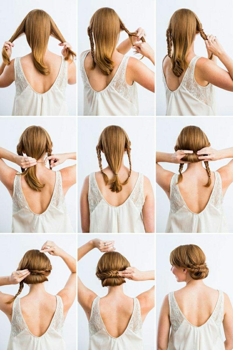 Schnelle Frisuren Fur Jeden Tag Die Nur In 3 Minuten Fertig Werden Frisur Hochgesteckt Elegante Hochsteckfrisur Hochsteckfrisur