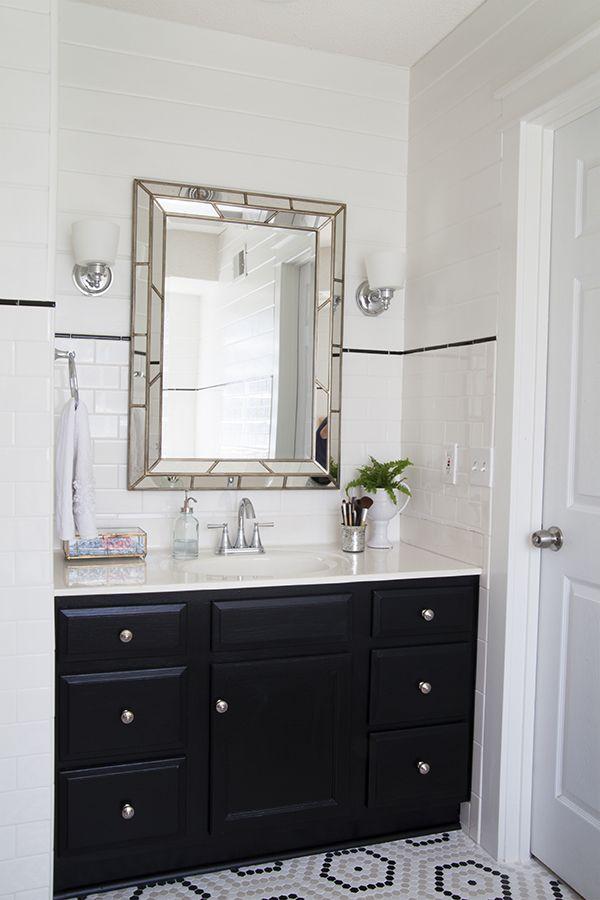 Bathroom Renovation A Custom Upgrade On A Budget  Budgeting Fascinating White Bathroom Vanity Home Depot Decorating Design