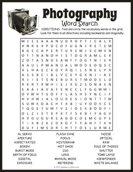 graphy Word Search Puzzle