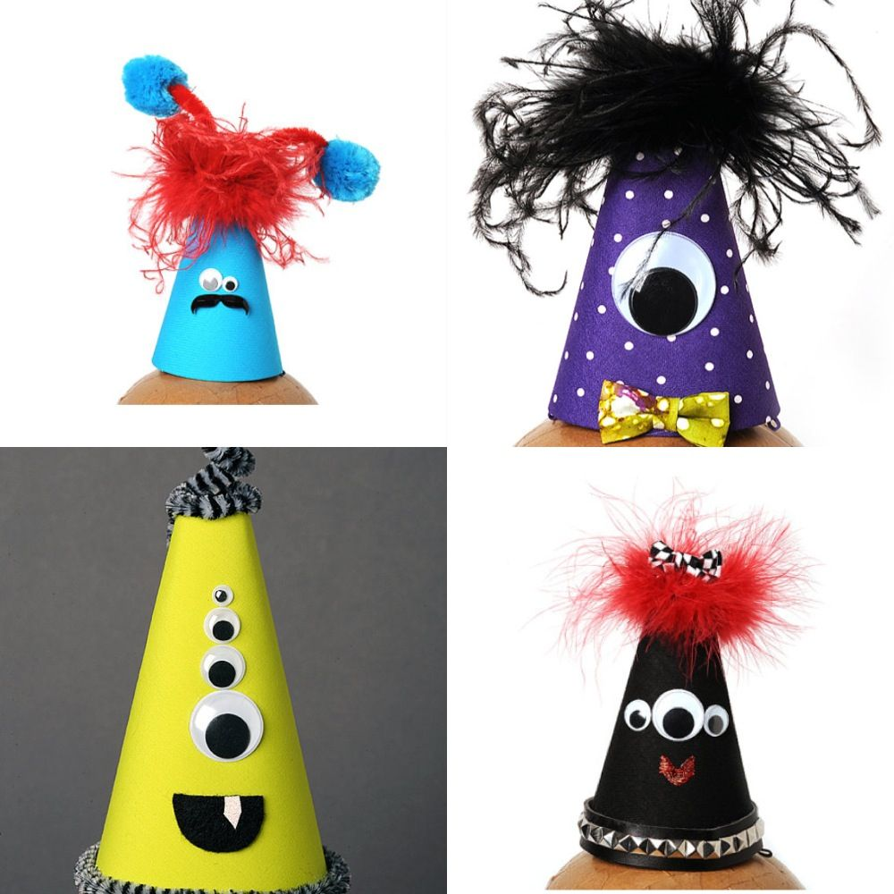 diy monster party hat ideas cumpleaños pinterest monster party