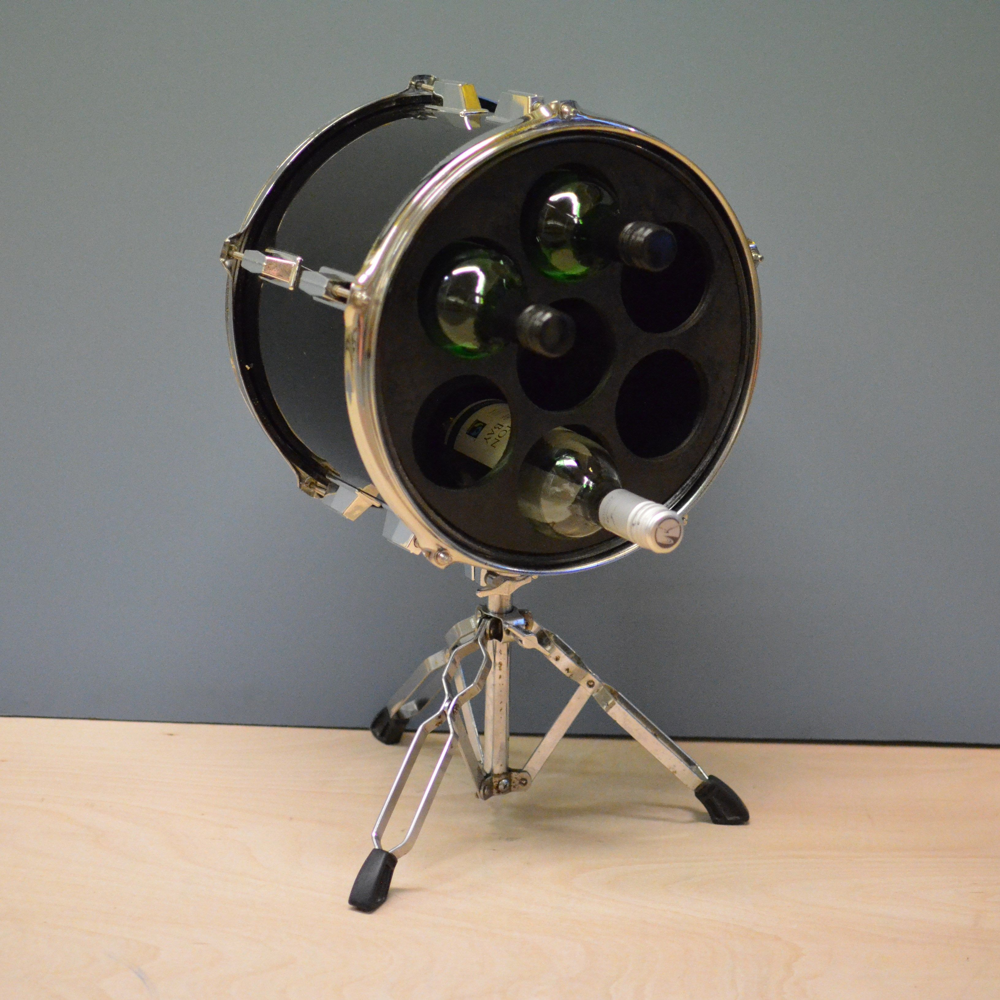 drum furniture. The Newest Addition To Our Collection Of Upcycled Drum Furniture Is This Wine Rack Made From