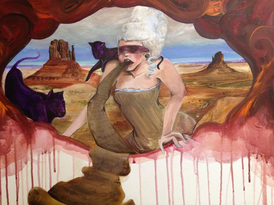 """Betrayal"" by Kitty Brooks #Acrylic #Canvas #painting #tattoos #Cats"