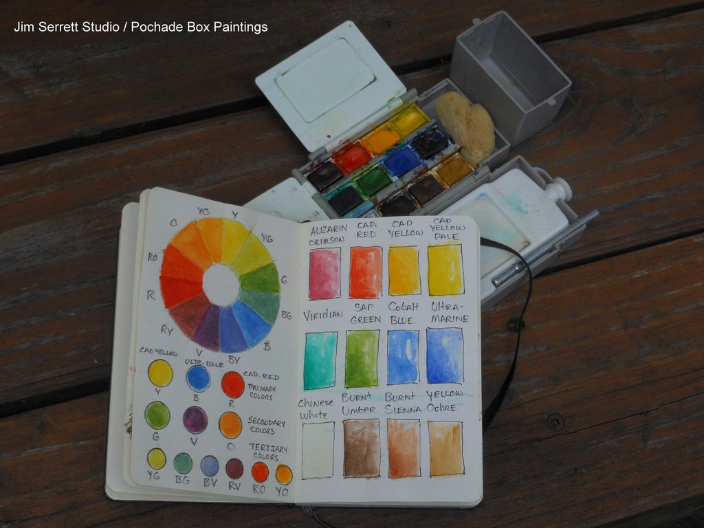 Watercolor Color Palette Sketchbook Sketch Book Pochade Box