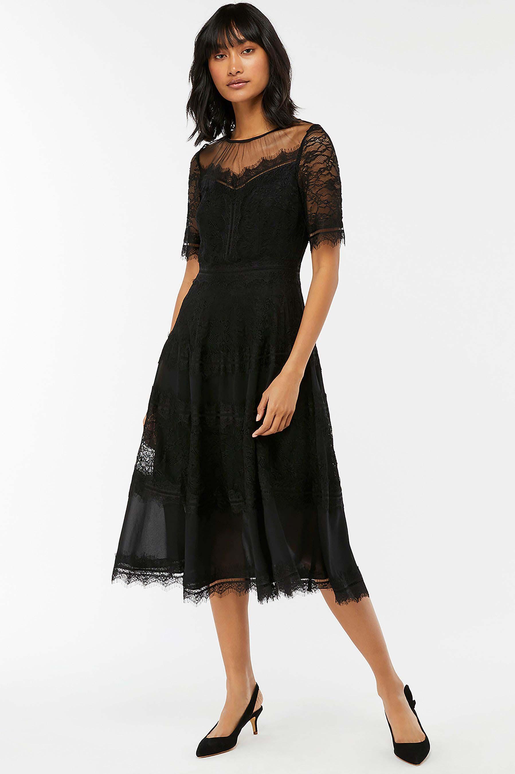 f46b5fca6b342 Womens Monsoon Black Clarissa Lace Dress - Black | Products ...