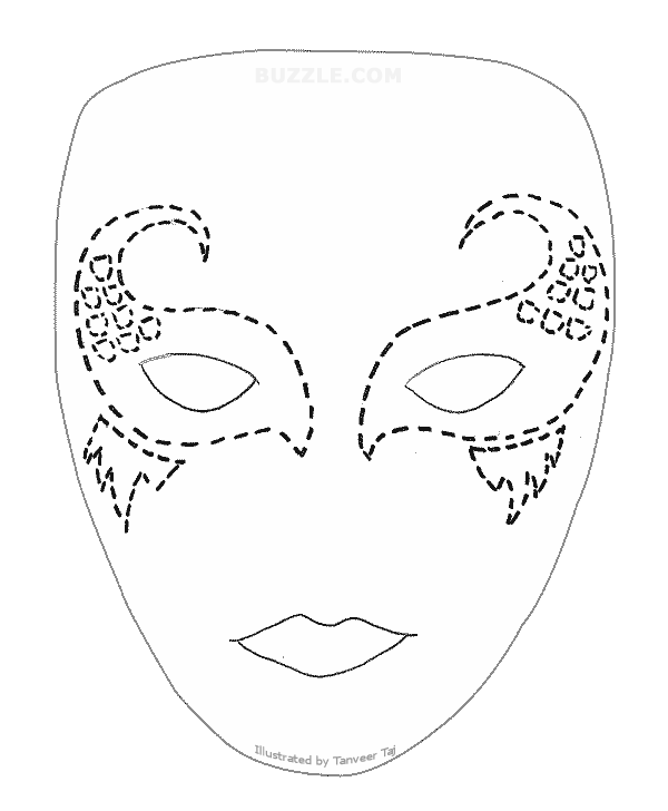 Mermaid Mask Buzzle Com Printable Templates Face Painting Stencils Mask Template Face Painting Halloween