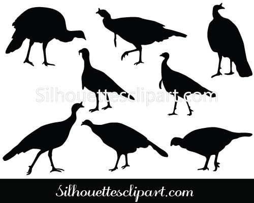 Wild turkey silhouette vector download thanks giving for Turkey fan mount template