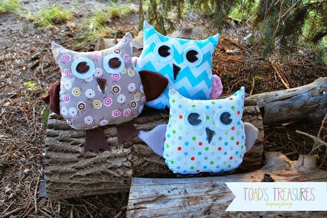 Toads Treasures Easy Free Owl Pattern And Tutorial Sewing Ideas