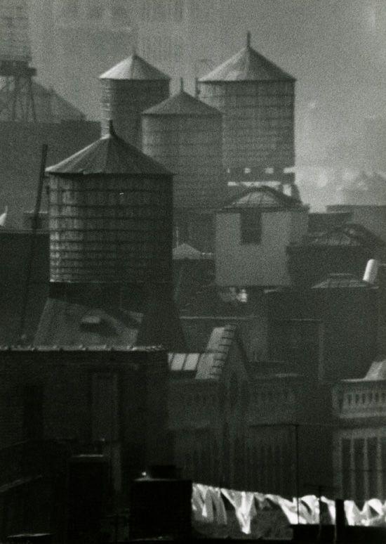 Andre Kertesz - Water Towers and Laundry, New York, NY, 1961