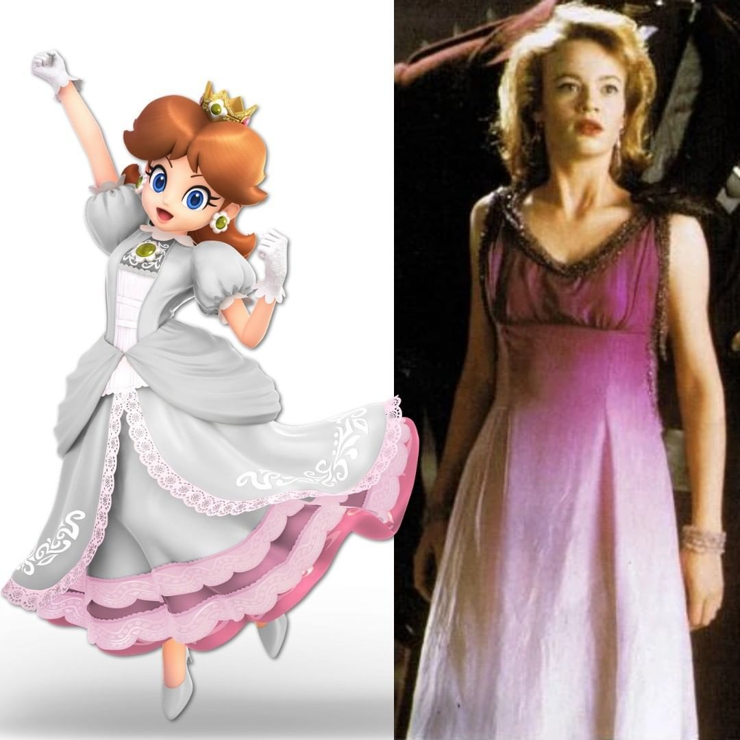 And If The Daisy White Dress Was A Reference To Daisy S Purple Dress From The Supermario Bros The Movie Both Ha Princess Daisy Fantasy Dress Super Mario Art