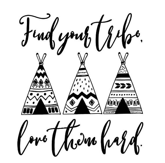 Download Find your tribe, Love them hard digital files, svg, eps ...
