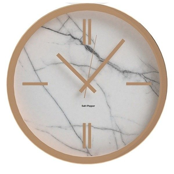 S&P Zone Rose Gold & Marble Wall Clock 45cm
