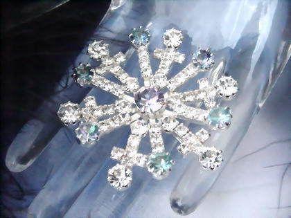 EISKRISTALL Strassknopf Crystal Kristallklar - btl241