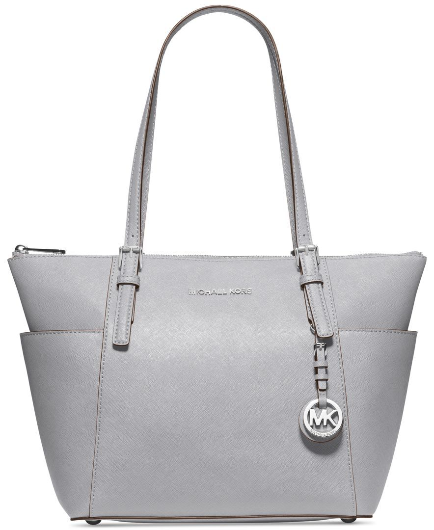 70350ba52428 ($248) MICHAEL Michael Kors Handbag, Jet Set Top Zip Tote - Pearl Grey -  Shop All Michael Kors Handbags & Accessories - Handbags & Accessories -  Macy'.