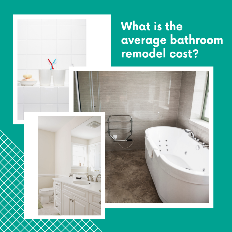How To Find Out The Average Bathroom Remodel Cost Average Bathroom Remodel Cost Bathroom Remodel Cost Bathrooms Remodel