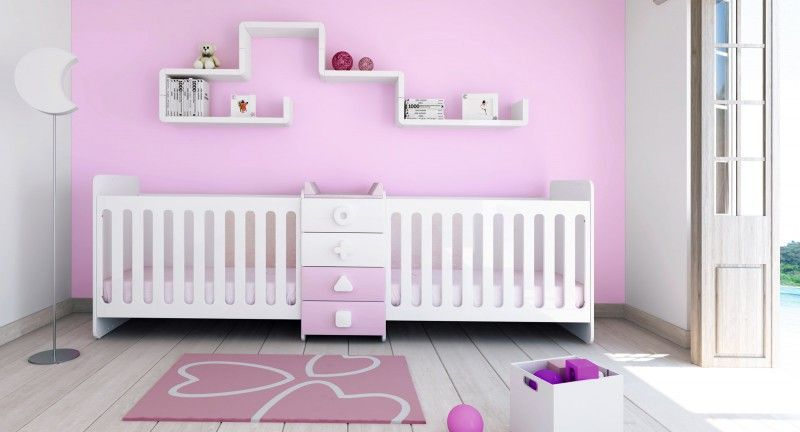 Lit bébé évolutif pour jumeaux · Maths Twin de Alondra | Stéphanie ...