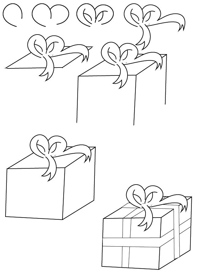 Drawing Christmas Gift Easy Christmas Drawings Christmas Pictures To Draw Xmas Drawing