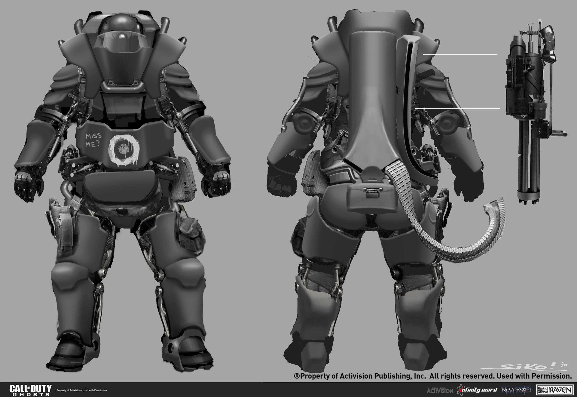 Artstation Call Of Duty Ghosts Juggernaut Simon Ko Call Of Duty Armor Concept Concept Art