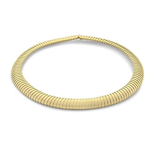 Carissima Gold 9ct Yellow Gold XL Flexi Tube Necklace of 41.91cm OmIaw
