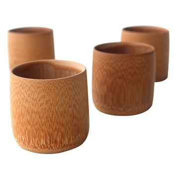 2pcs/lot Chinese bamboo tea cup for kung fu tea small vintage healthy eco-friendly drinking wine beer milk coffee Japanese style