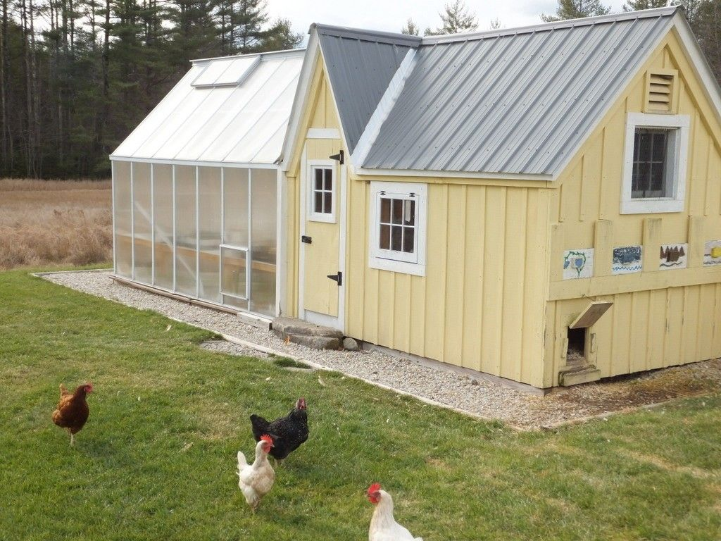 I Like This Green House Attached To A Charming Coop Most