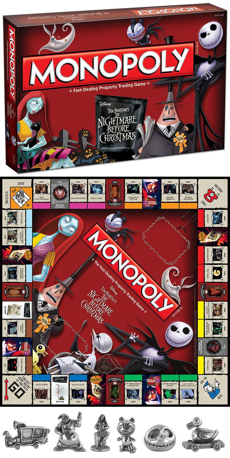 Contemporary Manufacture 180349: New Monopoly Tim Burton S The ...