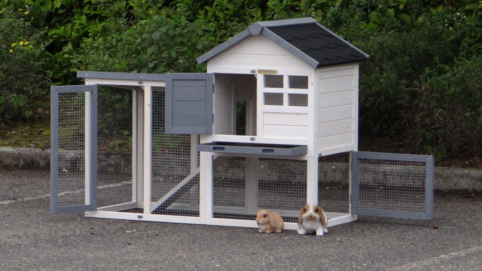 Kaninchenstall Advance Weiss Grau 122x62x93cm Kaninchenstall Kaninchen Und Freigehege