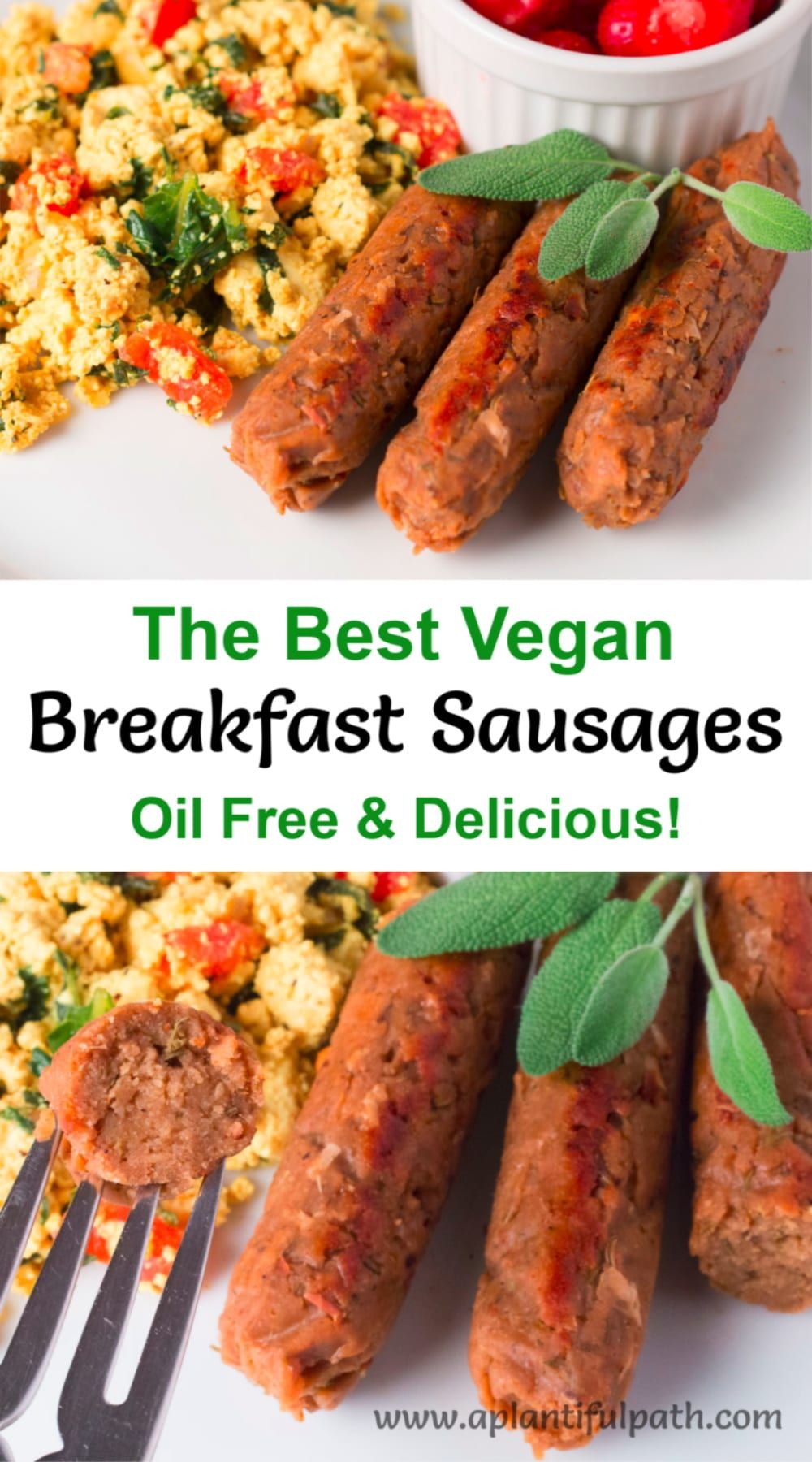 Vegan Breakfast Sausage Links Oil Free And Delicious A Plantiful Path Recipe In 2020 Breakfast Sausage Links Sausage Breakfast Vegetarian Recipes