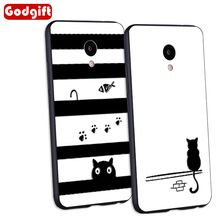 GodGift Meizu M5 Дело Силиконовый Чехол 3D Рельеф Мультфильм Soft Phone чехол Для Meizu M5 Примечание Полный Обложка Meizu M5s Задняя крышка крышка(China (Mainland))