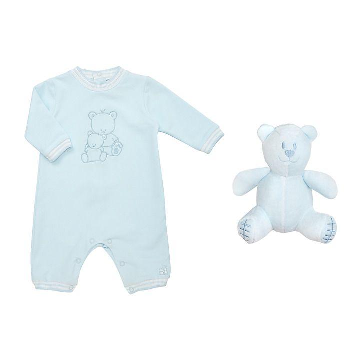 Buy Emile et Rose Baby John Romper, Blue, Newborn Online at johnlewis.com