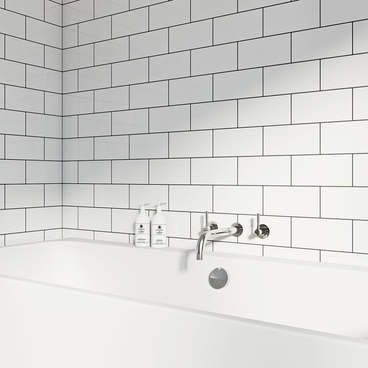 Metro White Gloss Tile 100mm X 200mm