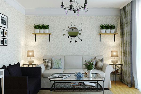 dekoideen grünpflanzen zimmer wohnzimmer dekorieren grüne
