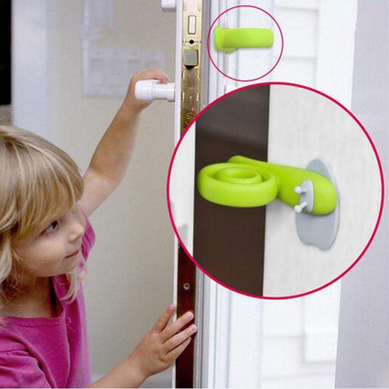 2ピースドアロックチャイルドロック赤ちゃんの安全ドアロック子供保護