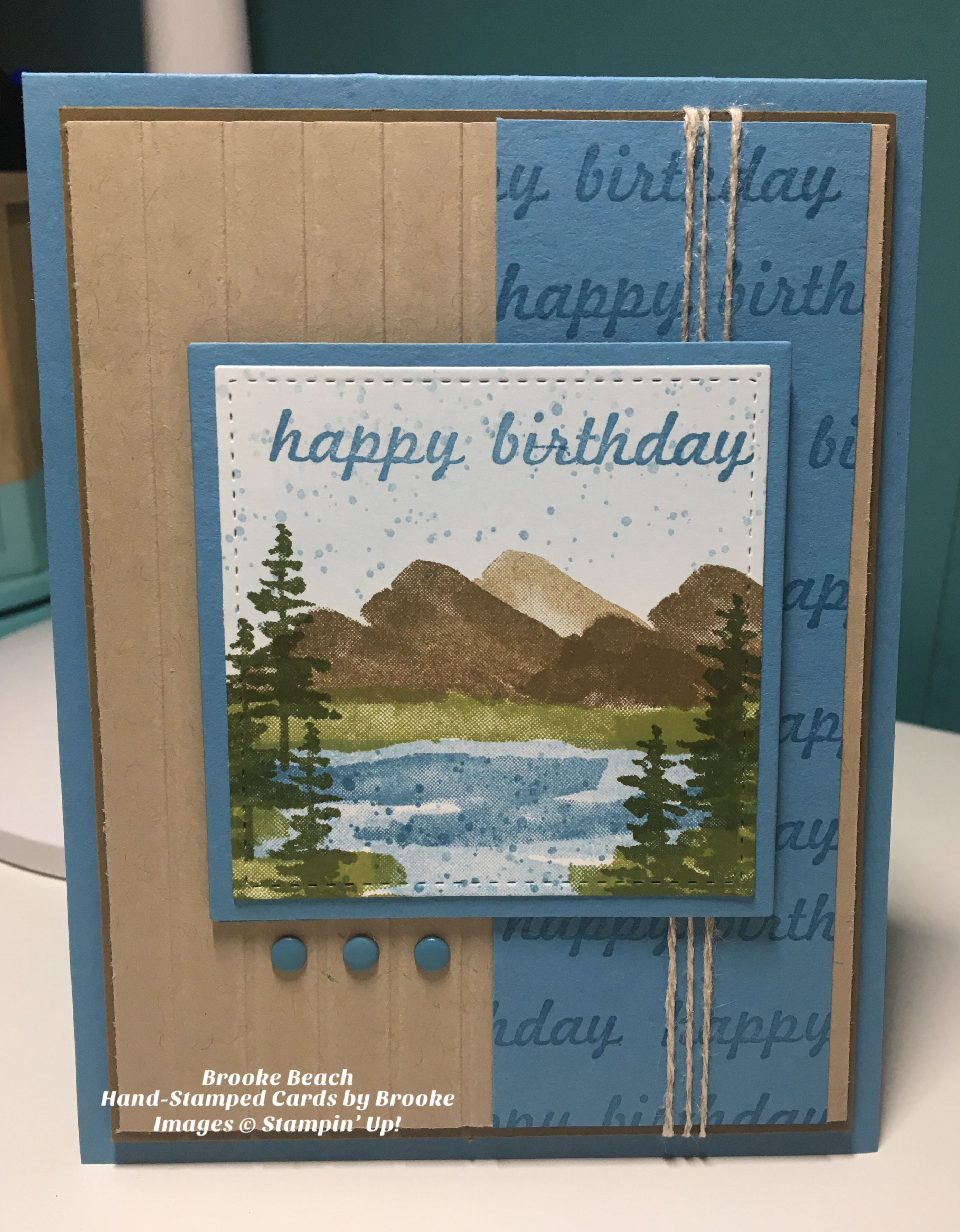 Stampin Up Waterfront Stamp Set Masculine Birthday Cards
