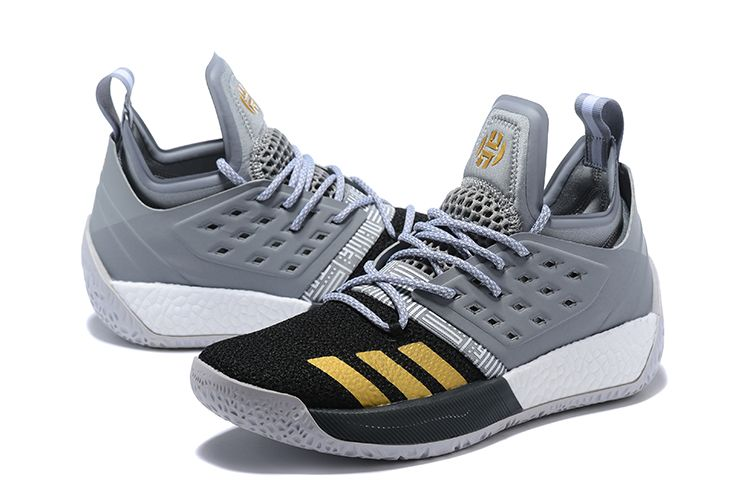 best service 82cbf fb7cd adidas Harden Vol. 2 Cool Grey Black-Gold Basketball Shoes-3