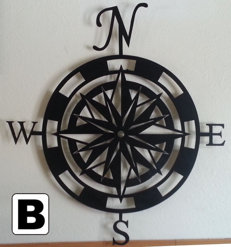 Compass Rose Metal Wall Art | For the Home | Home Decor ...