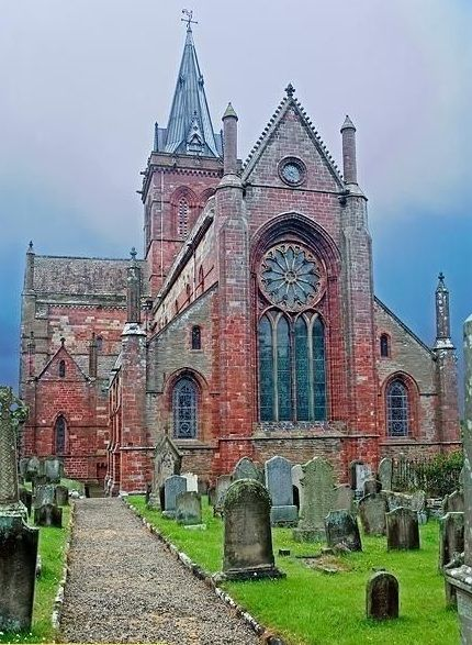 St. Magnus Cathedral- Orkney, Scotland~ known as the 'Light in the North,' the Cathedral was founded, in 1137, by the Viking, Earl Rognvald, in honour of his uncle, St. Magnus.