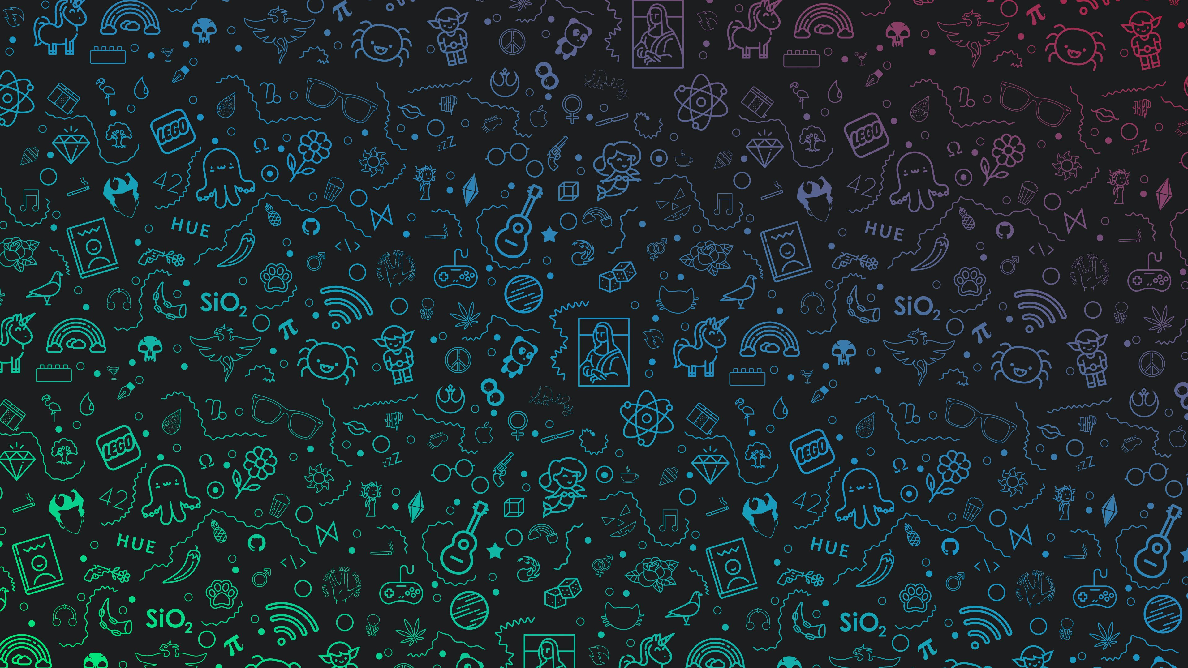 Sketches Gradients Icons Logo 4k Minimalist Wallpapers Minimalism Wallpapers Logo Wallpapers Hd Wallpap In 2020 4k Desktop Wallpapers Desktop Wallpaper Hd Wallpaper