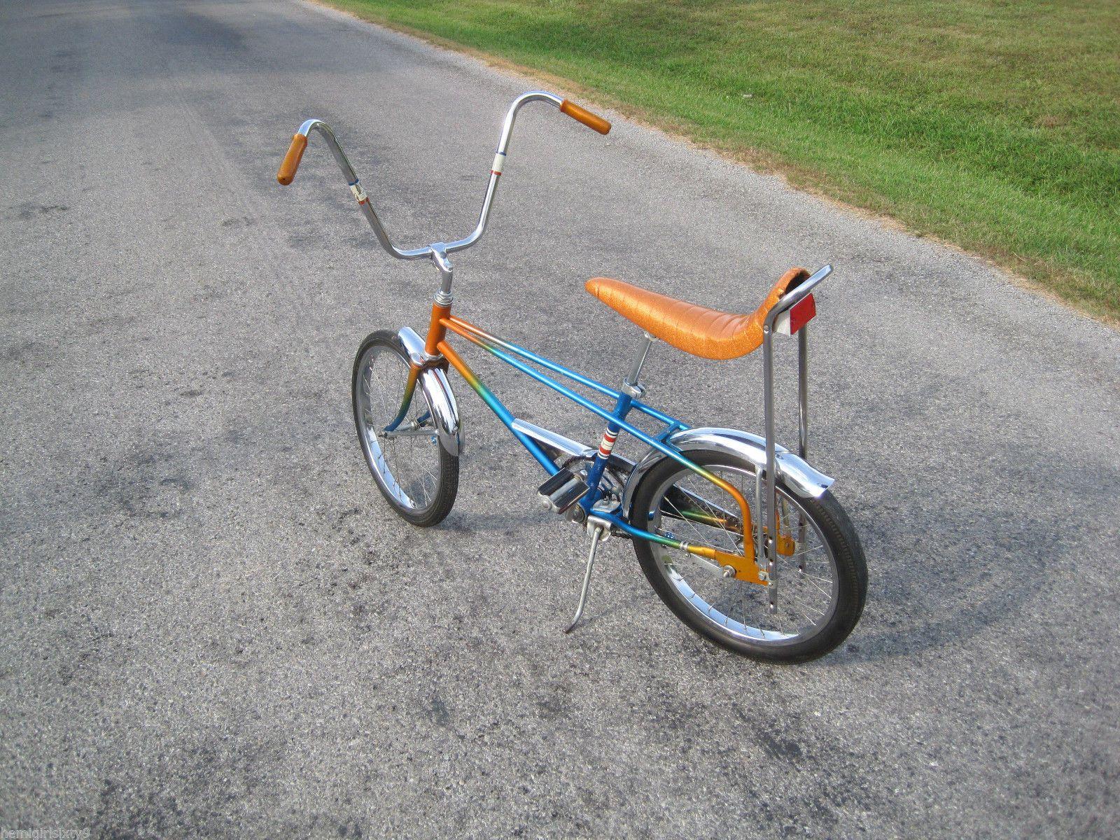 Orange blue fade 1970 murray hiawatha eliminator muscle bike ebay