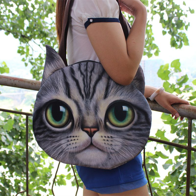 a1e13f712e01 New Big Size Personality Cartoon Women Storage Bag 3D Cute Animal ...