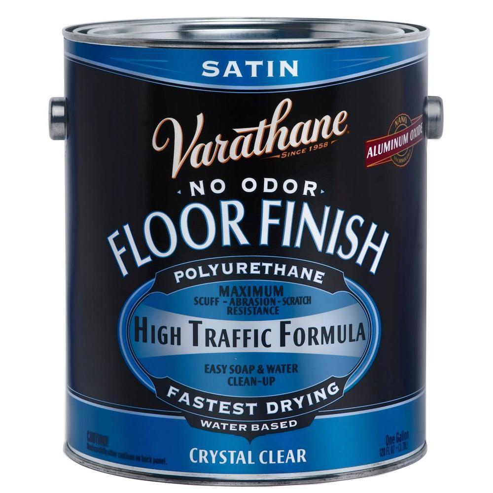 Varathane 1 Gal Clear Satin Water Based Floor Polyurethane 2 Pack 230231 The Home Depot Floor Finishes Varathane Flooring