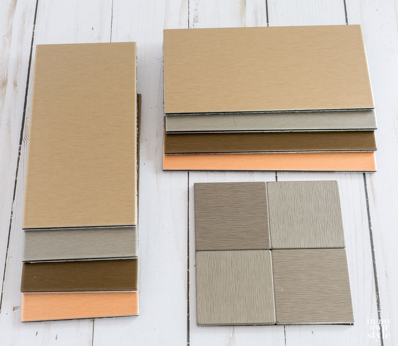 Aspect Metal And Metallic Subway Tile Color Options