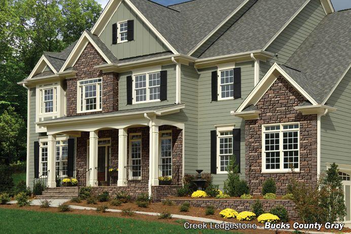 Creek Ledgestone Premium Exteria House And Home Exterior House Colors Exterior Siding