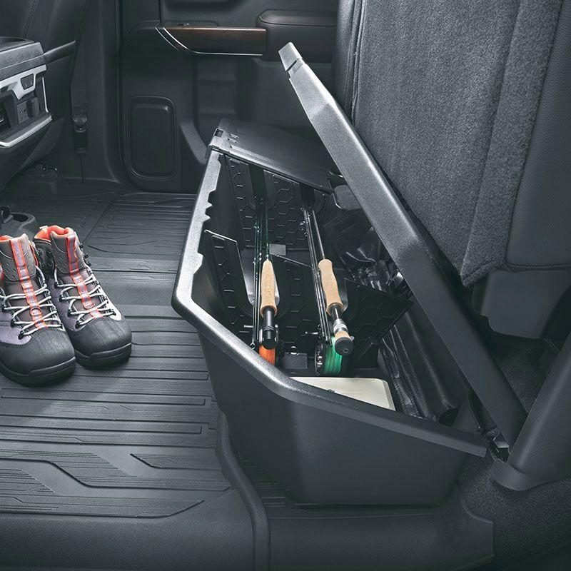 2020 Silverado 2500 Rear Underseat Storage Organizer Crew Cab