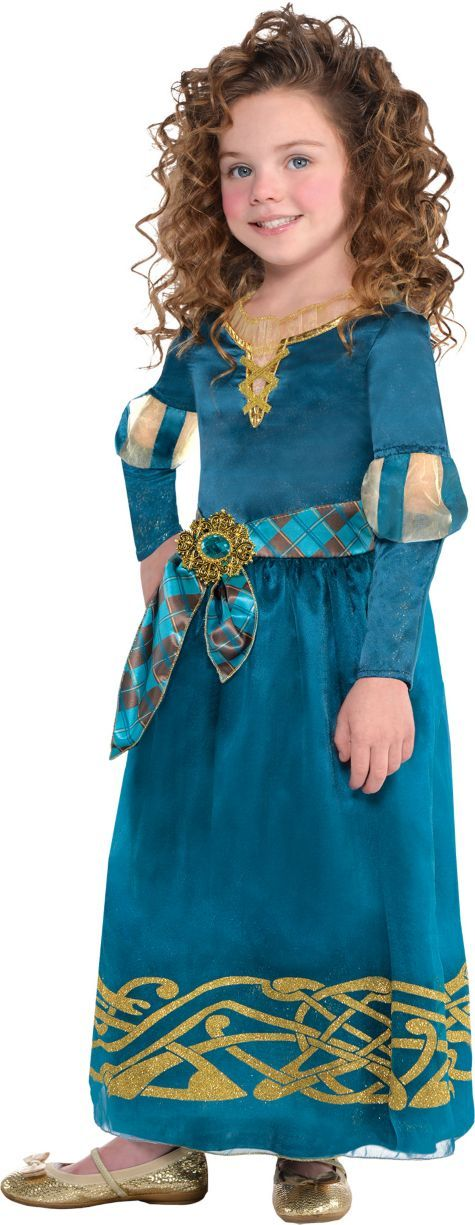Blue Disney Princess Merida Classic Girls Costume