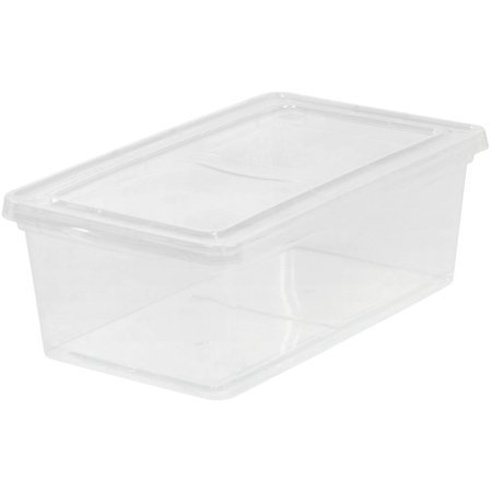 Iris Usa 6 Qt Clear Storage Latch Box 18 Pack Walmart Com Plastic Box Storage Plastic Container Storage Plastic Storage